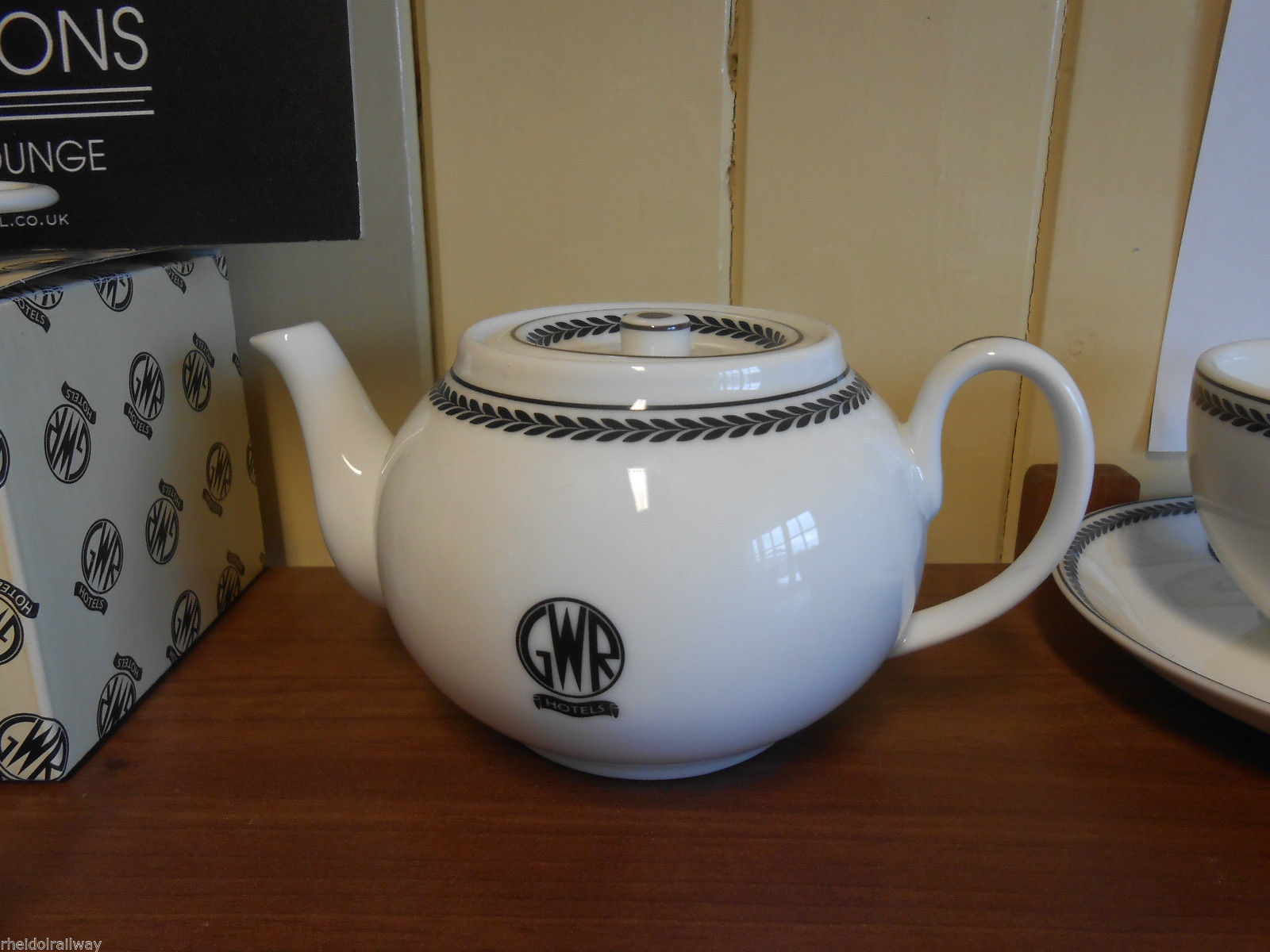GWR replica teapot recreations by centenary Lounge - The Vale of Rheidol Railway
