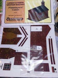 Alphagraphix LNWR  platelayers cabin A127 7mm O gauge 1:43 card kit - The Vale of Rheidol Railway