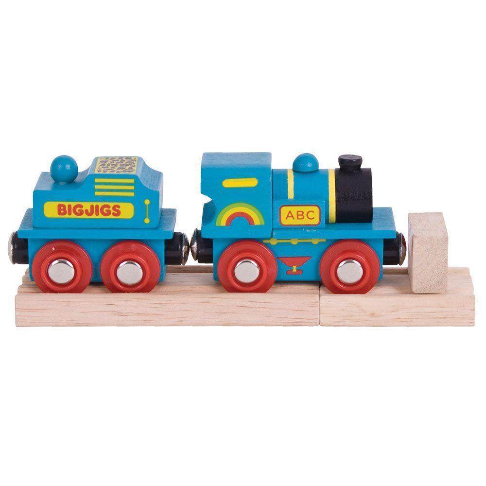 Bigjigs Blue ABC Engine wooden train fits Brio legler - The Vale of Rheidol Railway