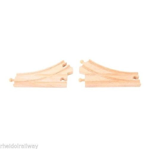Wooden train,BigJigs Curved Points fit Brio