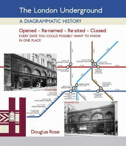 THE LONDON UNDERGROUND - a diagrammatic history map closed renamed open lines - The Vale of Rheidol Railway