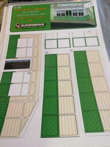 NER platform waiting shelter 7mm O gauge 1:43 card kit Alphagraphix A124