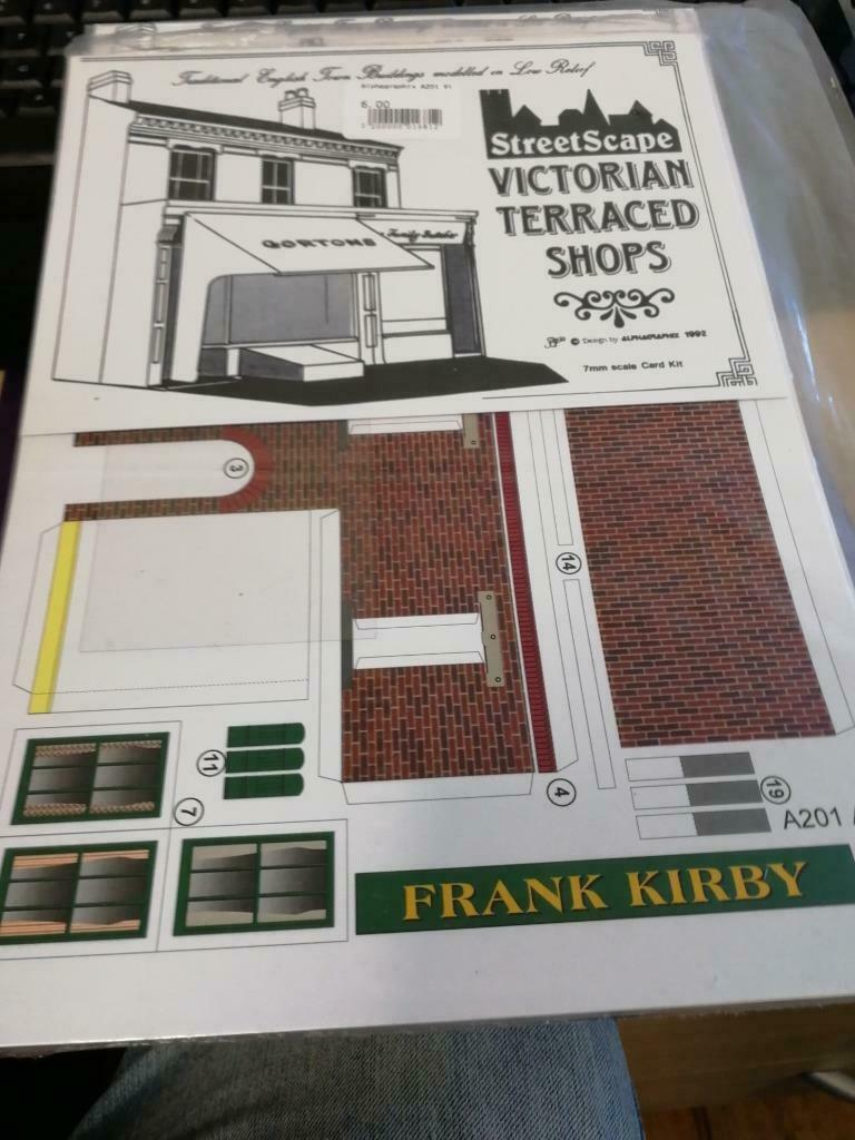 Victorian terraced shops Alphagraphix 7mm card kit A201