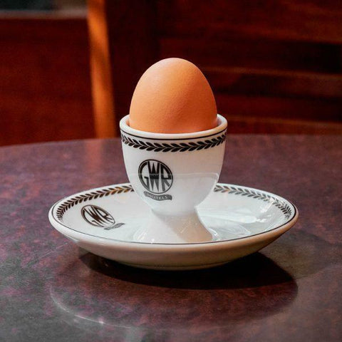 GWR replica eggcup & saucer  porcelain Recreations by Centenary lounge