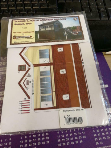 LNWR signal box Alphagraphix 4mm card kit F556