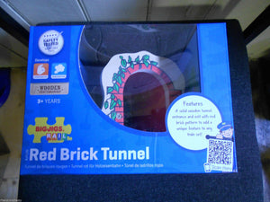 wooden train,BigJigs Red Brick Tunnel,fits Brio - The Vale of Rheidol Railway