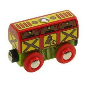 Bigjigs chicken wagon wooden railway fits Brio