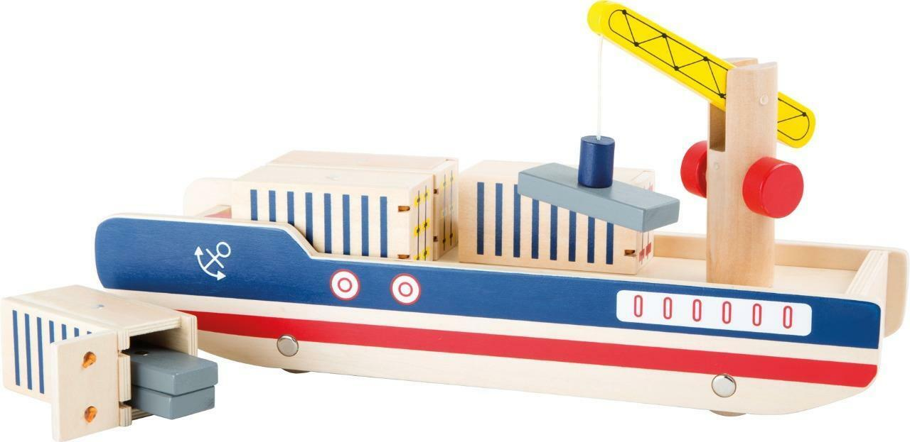 Container ship Legler wooden railway fits Brio Bigjigs