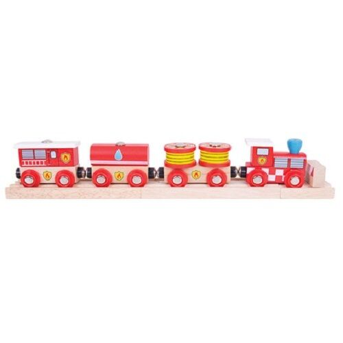 Bigjigs wooden train fire and rescue train fits Brio - The Vale of Rheidol Railway