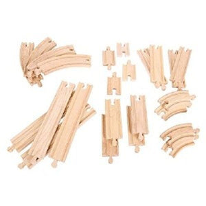 BigJigs Wooden,Curves and Straights Expansion Pack,Fits Brio - The Vale of Rheidol Railway
