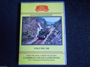 Barmouth, Talerddig, Friog, Cambrian Steam Landcruise Part 1 B&R Vol 108 DVD - The Vale of Rheidol Railway