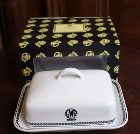 GWR butter dish replica porcelain Recreations by Centenary lounge - The Vale of Rheidol Railway