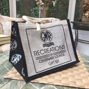GWR logo jute bag branded Recreations by Centenary Lounge 26x19.5