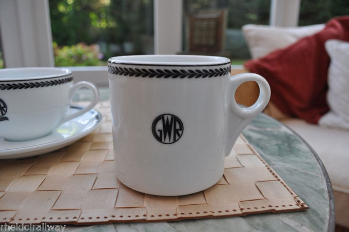 GWR replica coffee mug from Recreations by Centenary Lounge  porcelain - The Vale of Rheidol Railway