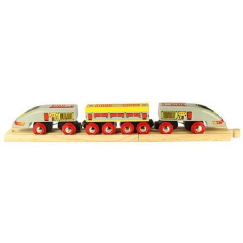 Bigjigs wooden train bullet eurostar train fits Brio - The Vale of Rheidol Railway