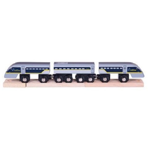 Bigjigs Eurostar e320 Train wooden train fits Brio - The Vale of Rheidol Railway