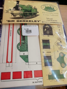 Sir Berkeley E2 Alphagraphix 7mm card kit coloured - The Vale of Rheidol Railway