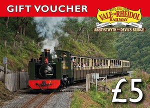 £5 Gift Voucher for Vale of Rheidol railway - The Vale of Rheidol Railway