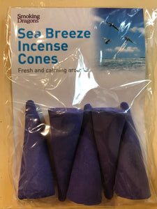 "Sea Breeze - Large 3"" Incense Cones - The Vale of Rheidol Railway"