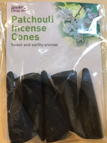 "Patchouli - Large 3"" Incense Cones - The Vale of Rheidol Railway"