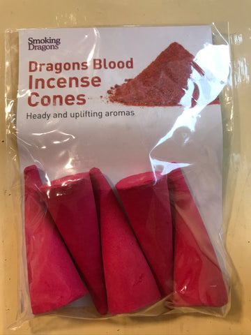"Dragons Blood - Large 3"" Incense Cones - The Vale of Rheidol Railway"