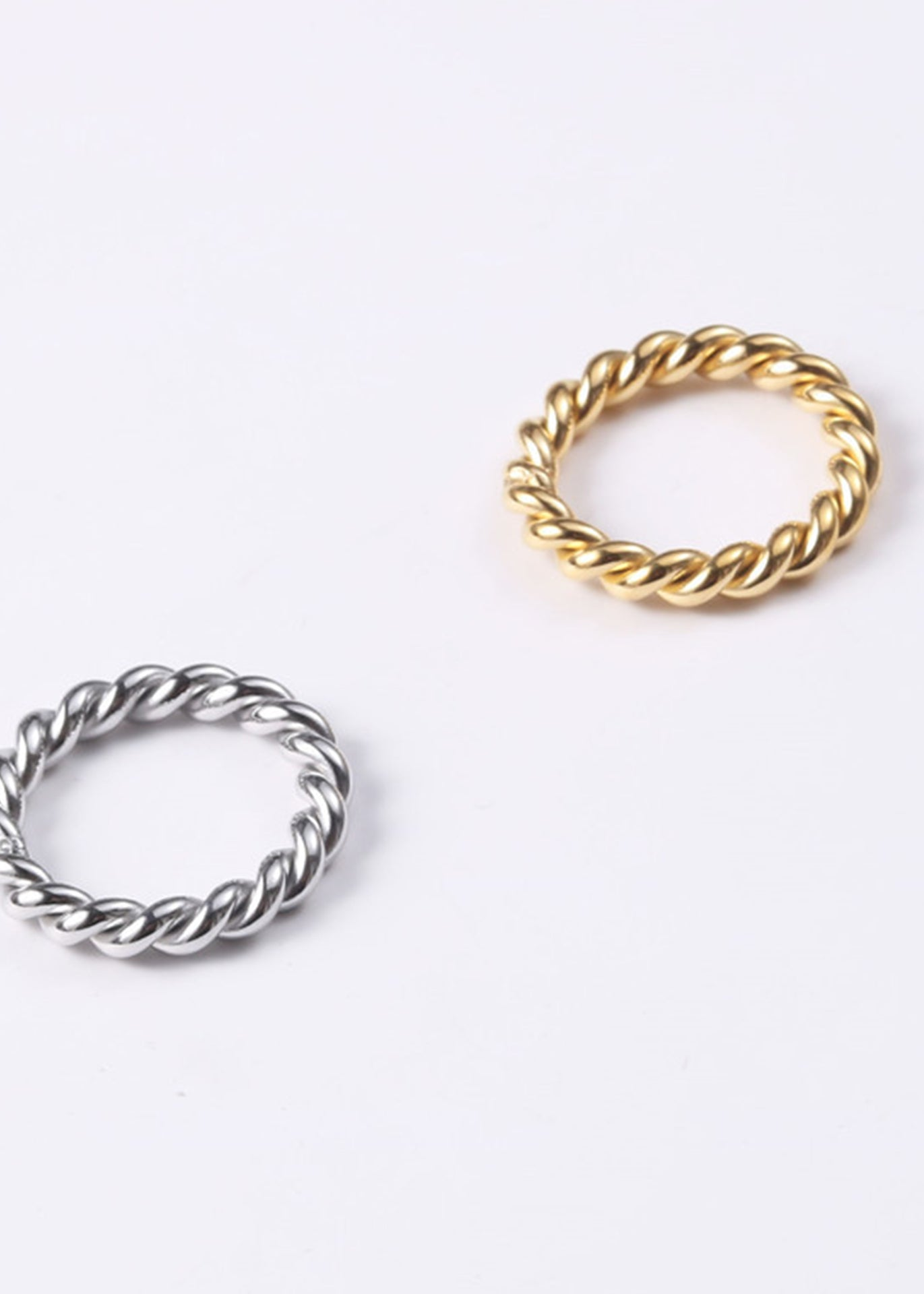 Archer Rope Twist 18K Gold Plated Ring