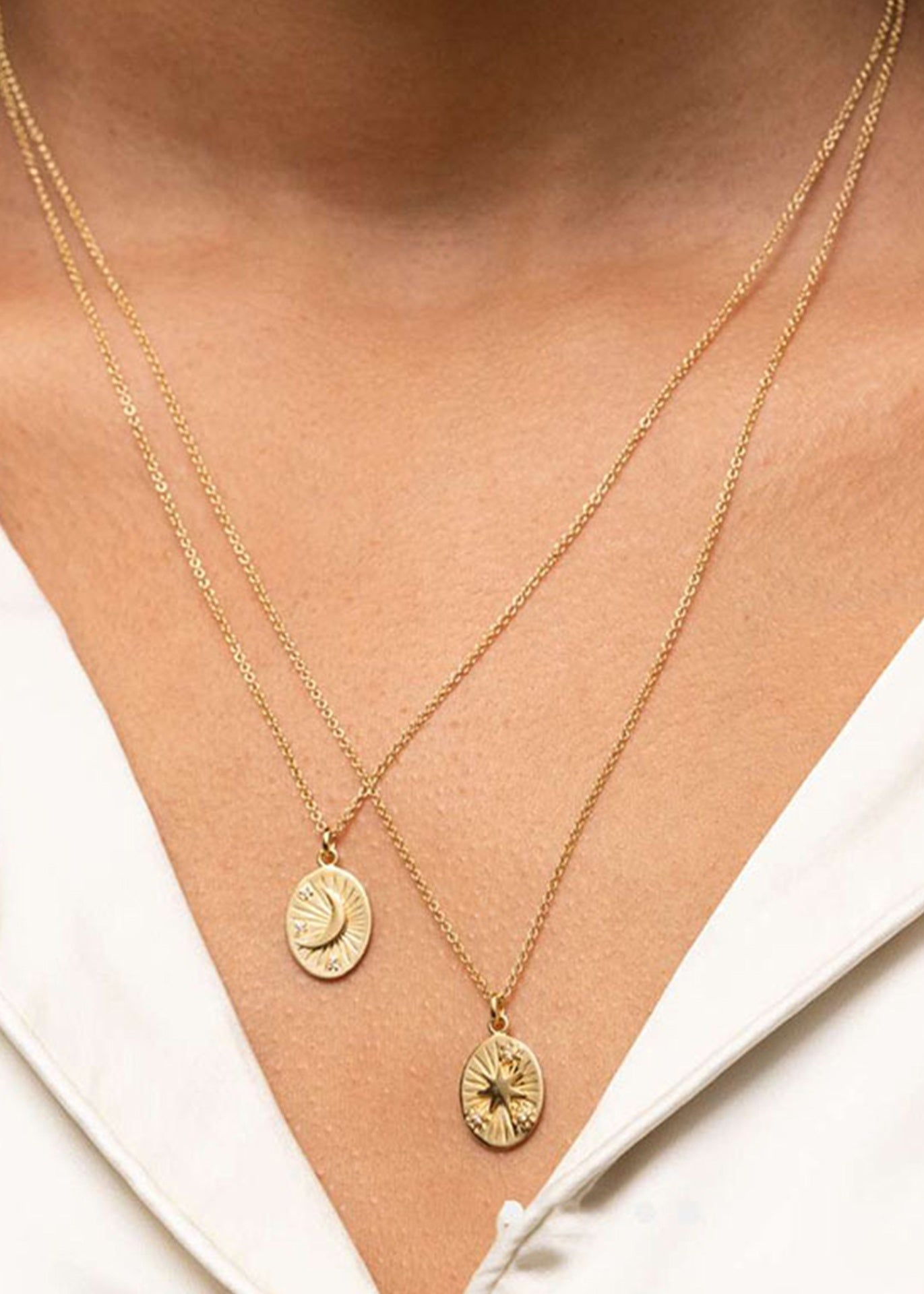 Artemis 18K Gold Plated Moon Necklace