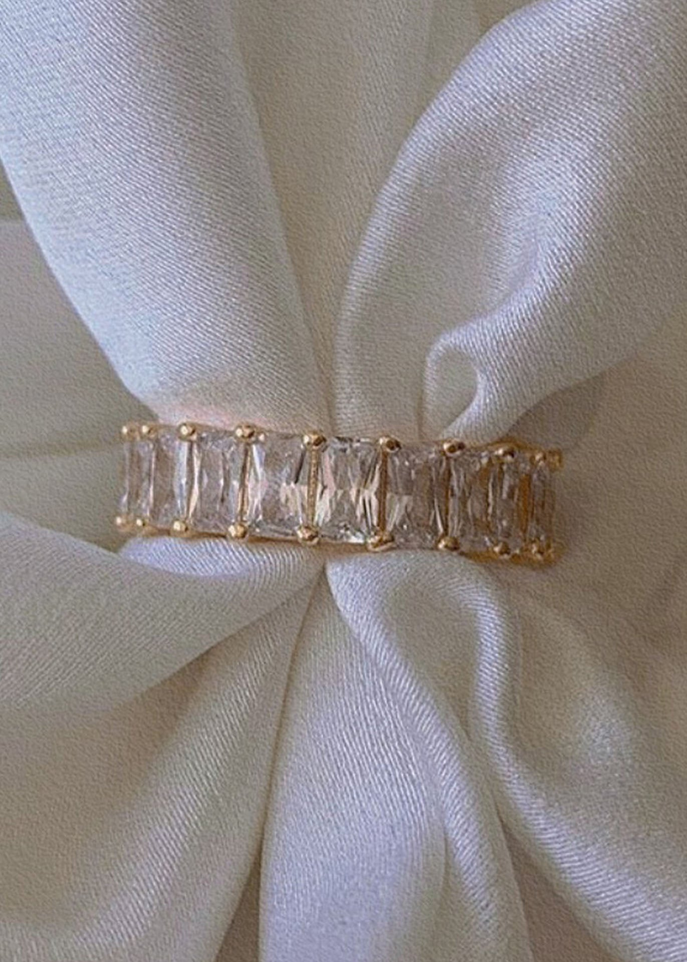 Gypsy Zirconia 18K Gold Plated Eternity Ring