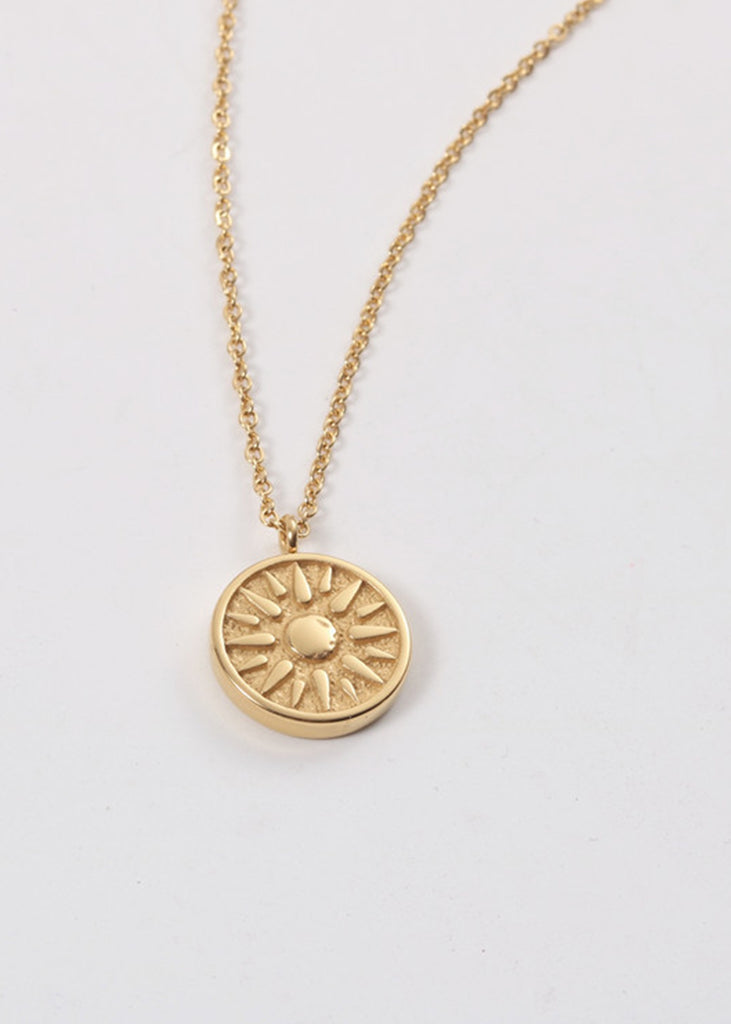 Cassie 18K Gold Plated Sun Necklace