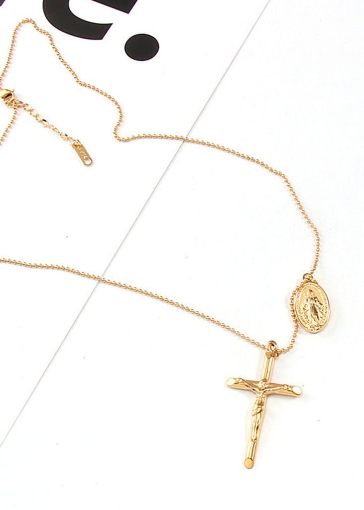 Cross 18K Gold Plated Necklace