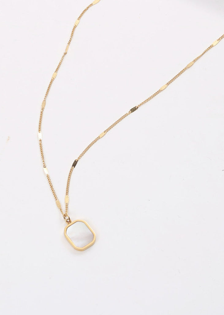 Davina Mother Of Pearl 18K Gold Plated Necklace
