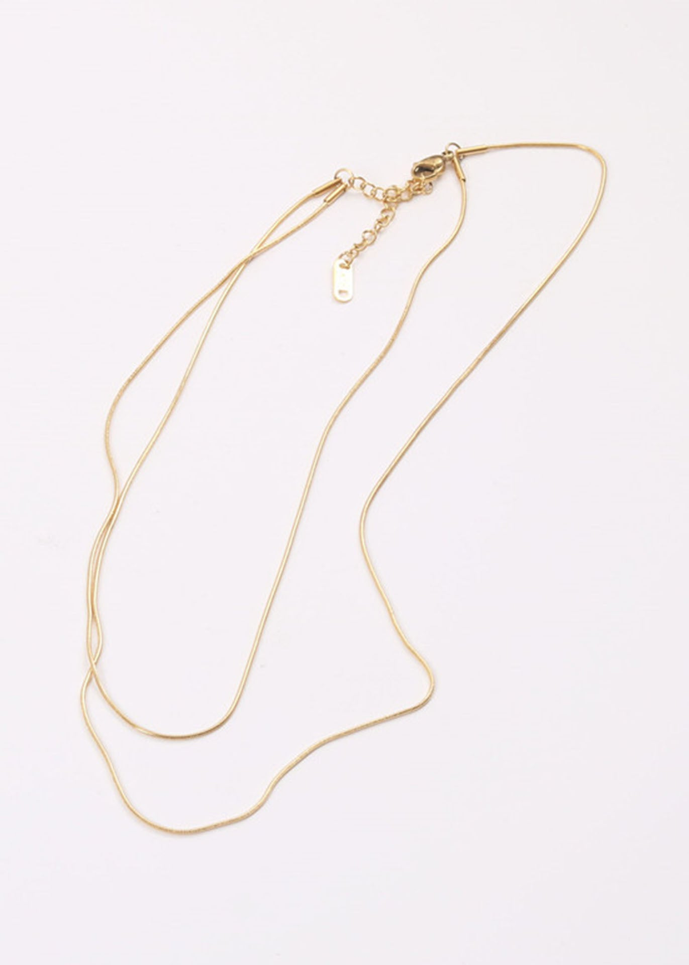 Anneleise 18K Gold Plated Double Layered Necklace