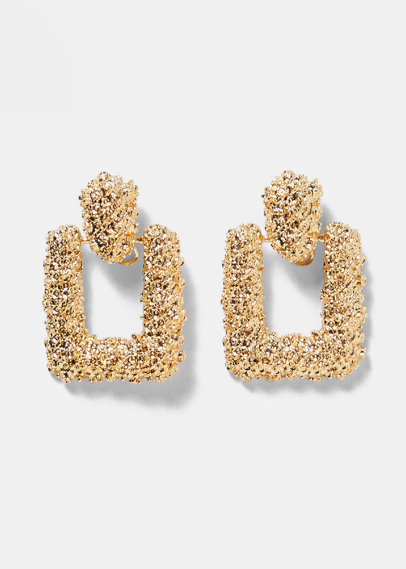 Bryanna Gold Square Earrings