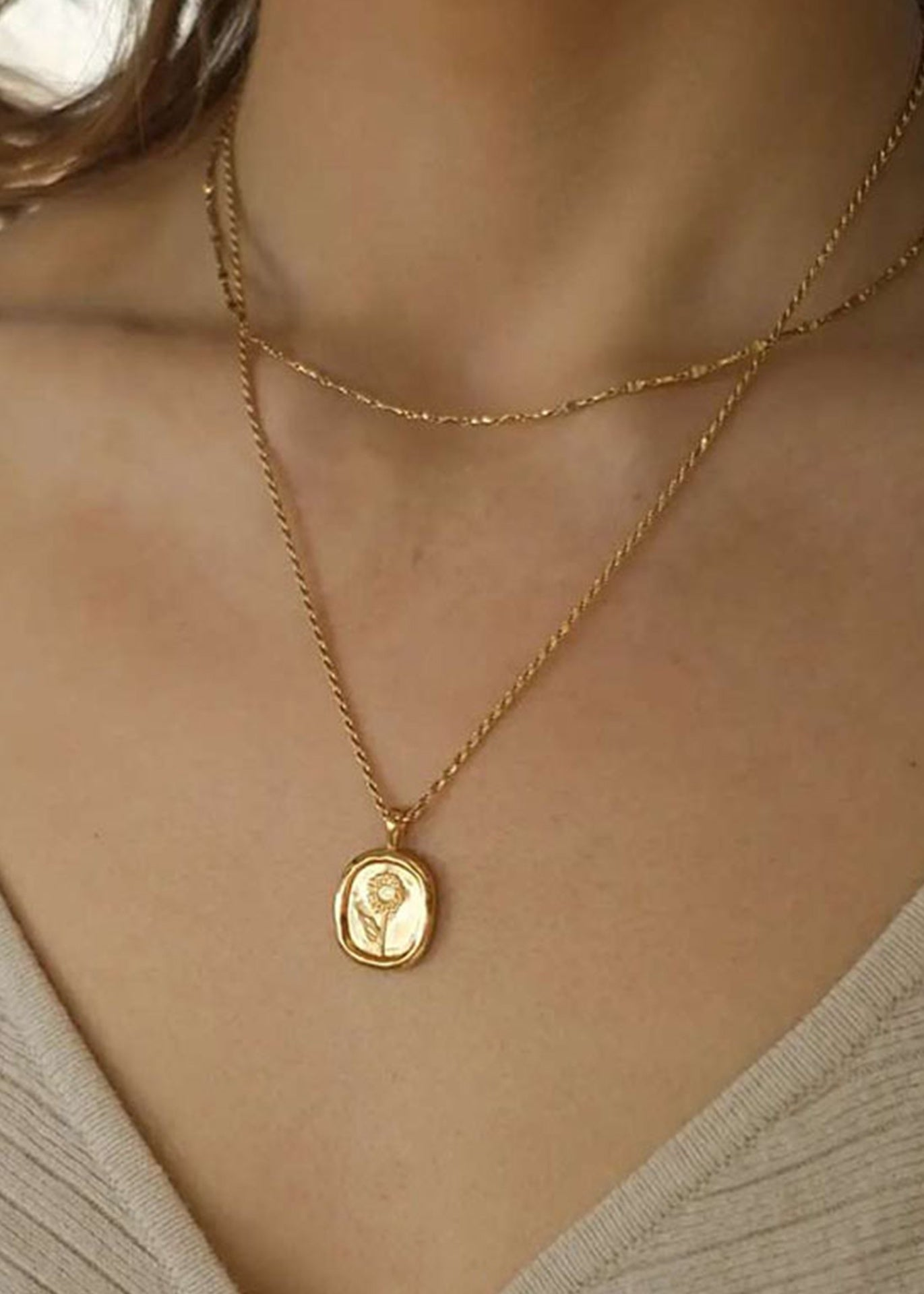 Sunflower 18K Gold Plated Necklace