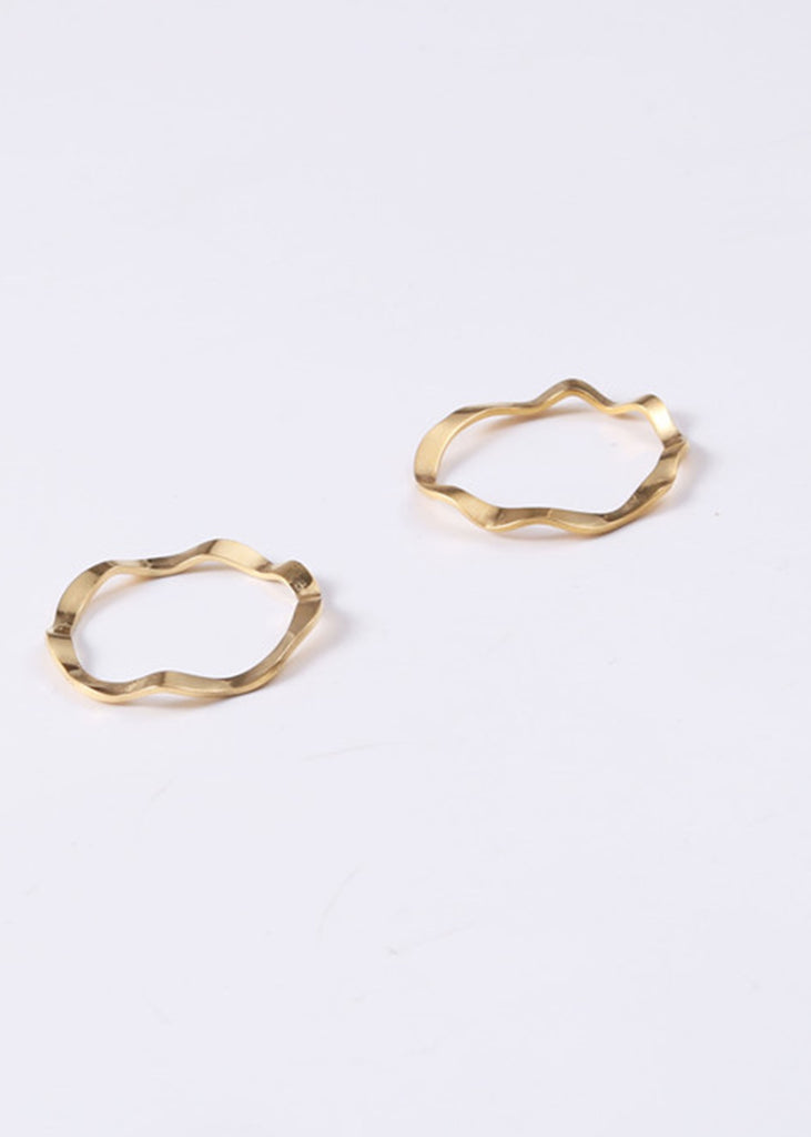 Nayeli 18K Gold Plated Wave Ring