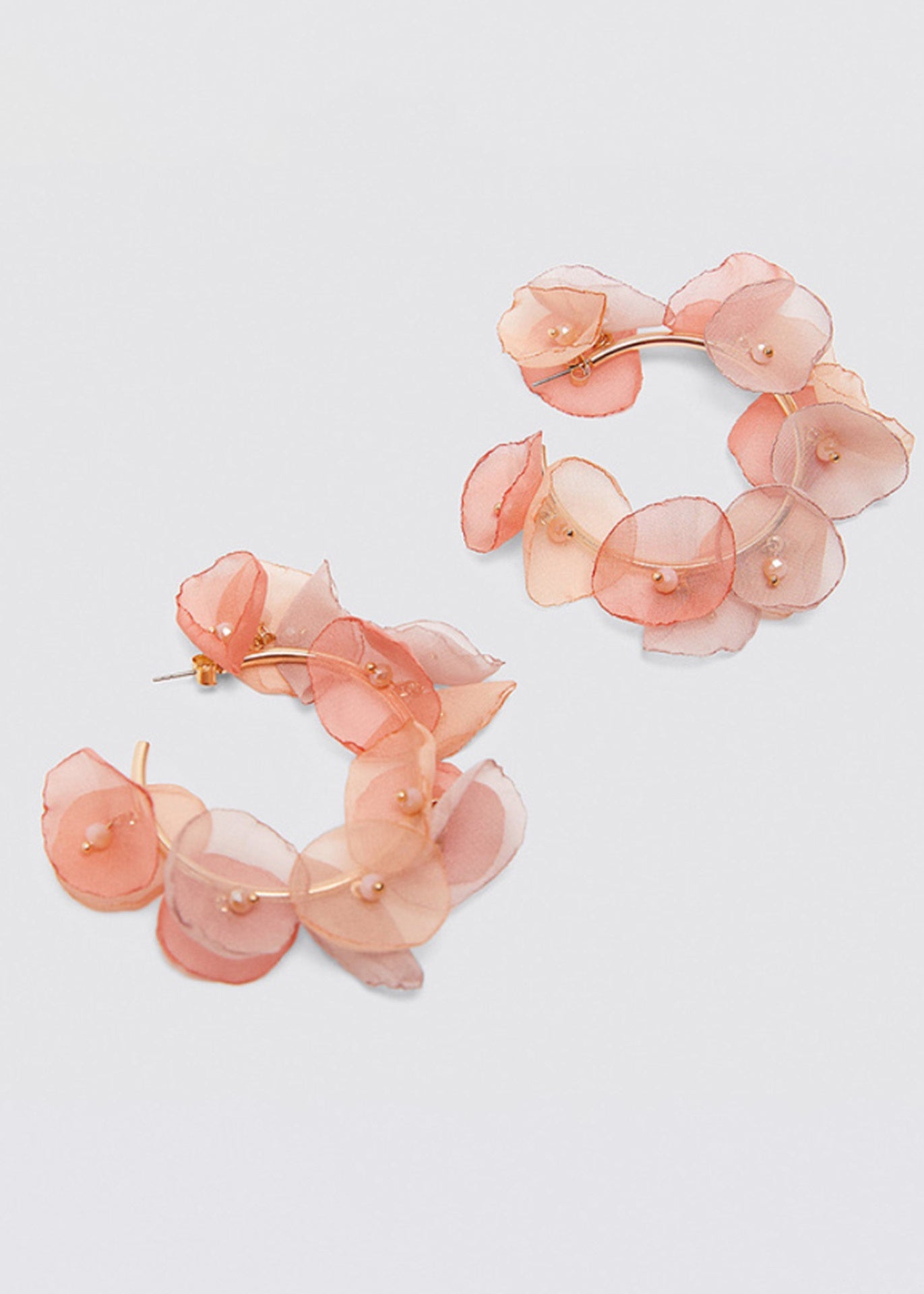 Mara Petal Hoop Earrings