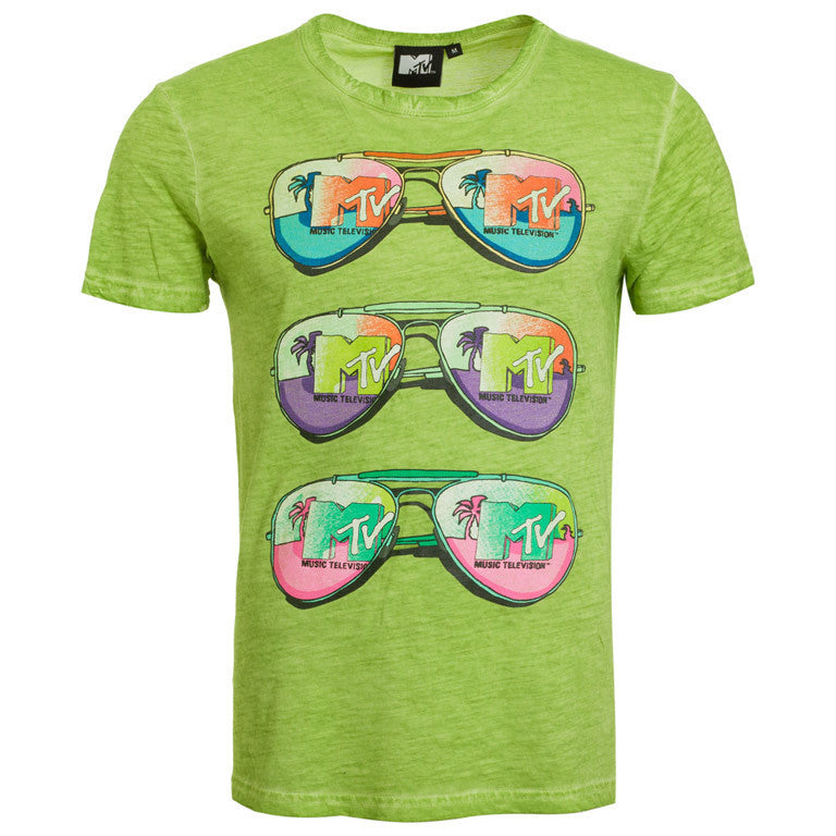 "Men's T-Shirt ""Palm Sunglasses"" MTV - en.brands4all.com.gr - 1"