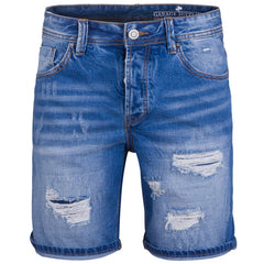 "Men's Denim Shorts ""Fisherman"" Garage Fifty Five - en.brands4all.com.gr - 1"