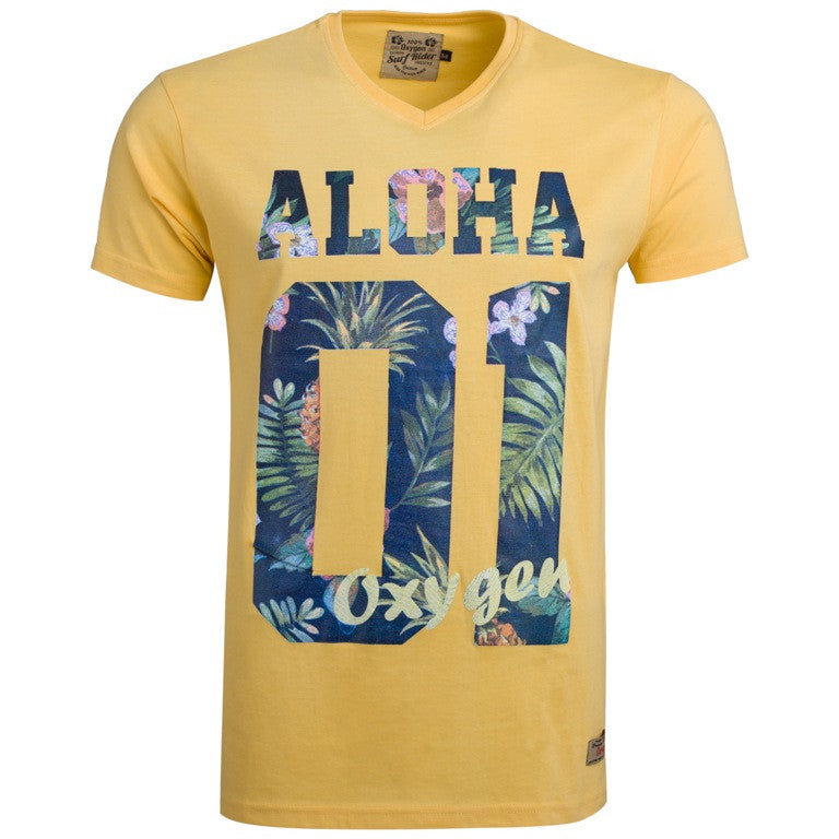 "Men's T-Shirt ""Aloha 01"" Oxygen - en.brands4all.com.gr - 4"
