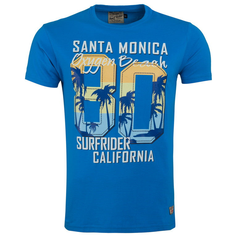 "Men's T-Shirt ""Santa Monica 80"" Oxygen - en.brands4all.com.gr - 1"