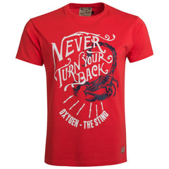 "Men's T-Shirt ""Never Turn Your Back"" Oxygen - en.brands4all.com.gr - 1"