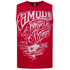 "Men's Sleeveless T-Shirt ""Famous"" Campus - en.brands4all.com.gr - 1"