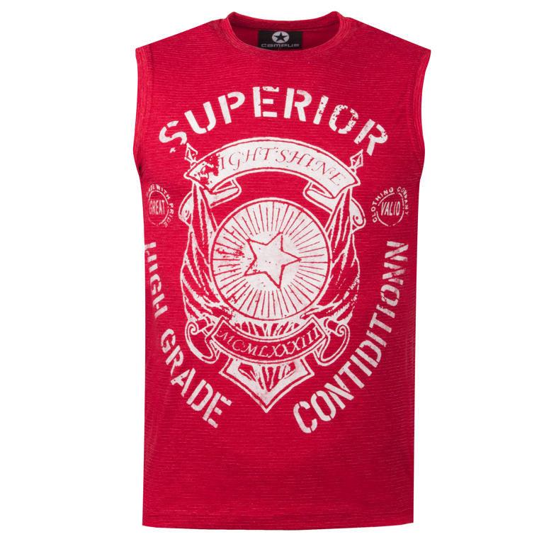 "Men's Sleeveless T-Shirt ""Superior Condition"" Campus - en.brands4all.com.gr - 4"