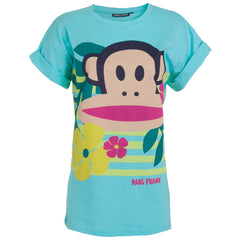 "Women's T-Shirt ""Leaves & Flowers"" Paul Frank - en.brands4all.com.gr - 1"