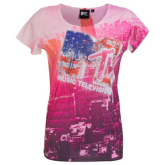 "Women's T-Shirt ""Pink City"" MTV - en.brands4all.com.gr - 1"
