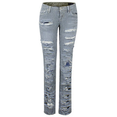"Women Jeans ""Blue Stripes"" School of Women - en.brands4all.com.gr - 1"