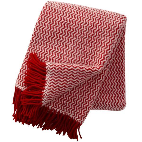 Tango Red wool throw / blanket