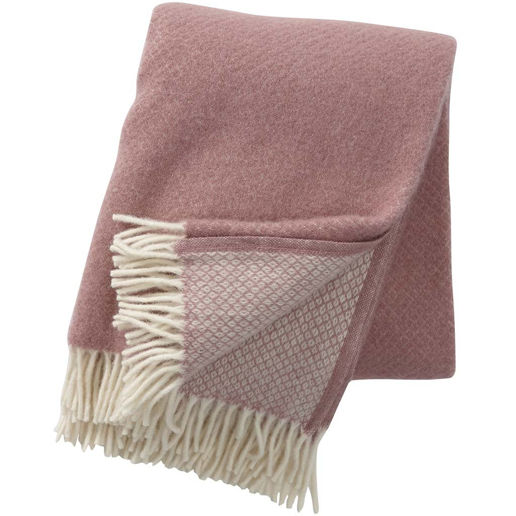 Vega Rose wool throw / blanket