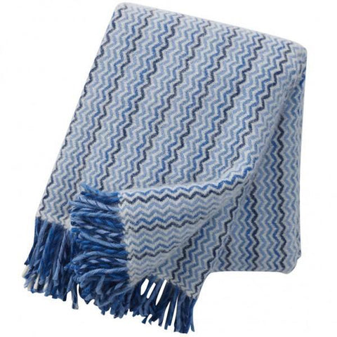 Mosaic Ocean wool throw / blanket - L'Atelier Natalia Willmott