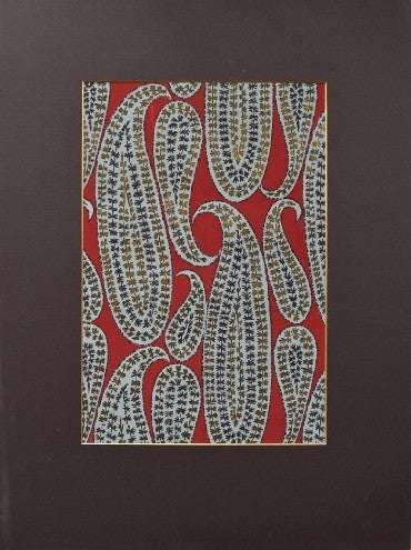 Paisley design on red textile design - L'Atelier Natalia Willmott